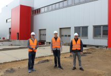 Brömmelhaupt Logistik: Leiter Operations Sascha Dittrich, Geschäftsführer Robert Drosdek und Logistikleiter Stefan Tsouparidis