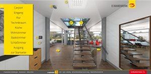 ZVEH Virtuelles-E-Haus Flur. Foto: Werbebaugesellschaft mbH