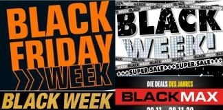 Collage mit Black Friday Angeboten 2020