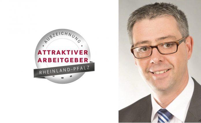 TechniSat, Stefan Kön und Logo attraktiver Arbeitgeber. Foto: TechniSat