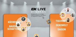 EK Live 2021 digitale Messe. Foto: EK Servicegroup