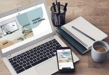 Loewe webshop, Notebook auf dem Tisch