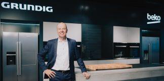 Mario Vogl auf der digitalen Pressekonferenz der Beko Grundig Deutschland GmbH