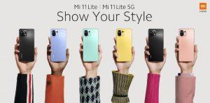 Mi 11 Lite 5G und Mi 11 von Xiaomi
