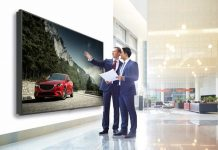 8m-b120c Sharp 8K-Display in corporate-lobby