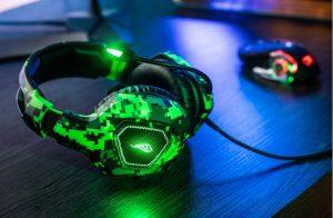 Gaming-Headset Skirmish im Camouflage-Design und mit LED-Beleuchtung