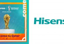 Hisense Key Visual und Logo - Fifa Partnership World Cup 2022