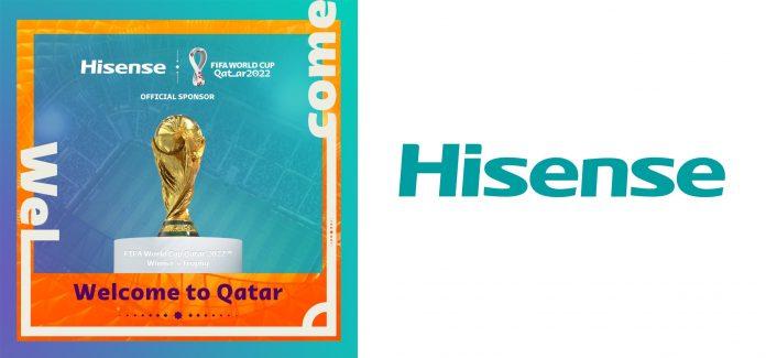 Hisense Key Visual und Logo - Fifa Partnership World Cup 2022
