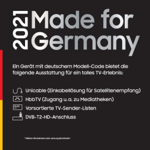 Samsung-Siegel Made for Germany 2021