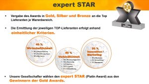 expert star - Konditionen für die Auszeichnung