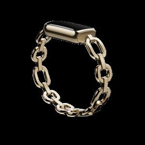 """Kettenarmband """"Parker"""" von gorjana in Edelstahl Platin und Softgold für Fitbit Luxe"""