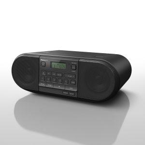 Panasonic DAB+ Radio RX-D552 in Schwarz Seitenansicht
