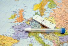 Corona-Schnelltest auf Europakarte