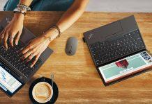 Lenovo Go - Notebooks auf dem Schreibtisch