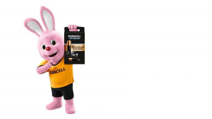 Duracell-Hase mit neuer Optimum-Batterie