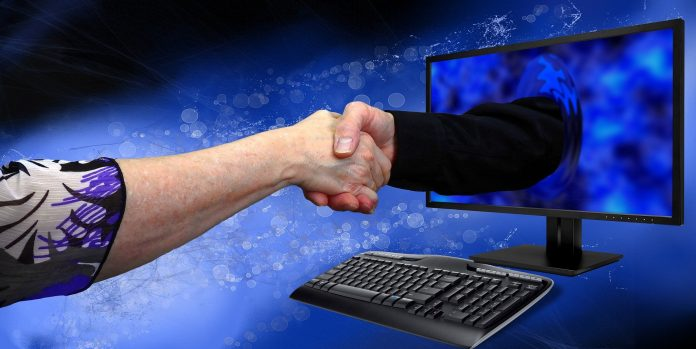 Handshake durch den Screen