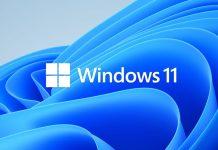 Windows 11 Logo auf blauem Hintergrund