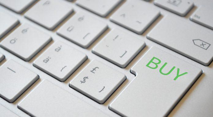 Buy-Taste auf Tastatur