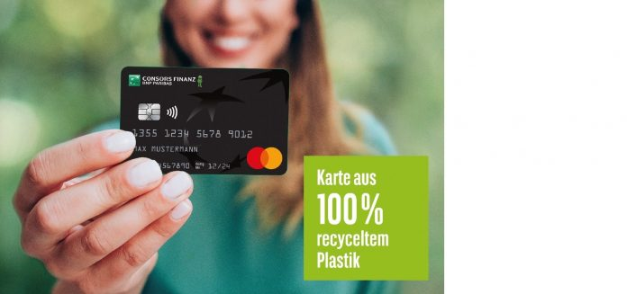 Kreditkarte aus umweltfreundlichem Material - Consors Finanz