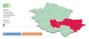 Neue DAB+ Standorte in Bayern und Hessen im ersten Halbjahr 2021