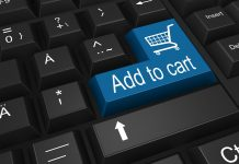 """Taste """"Add to cart"""" auf Tastatur - Onlinehandel"""