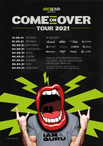 aqipa Come on over Tour 2021 - Plakat mit Terminen
