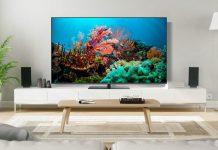 Hitachi Q-Serie - 4K-QLED-Fernsehr im Wohnzimmer