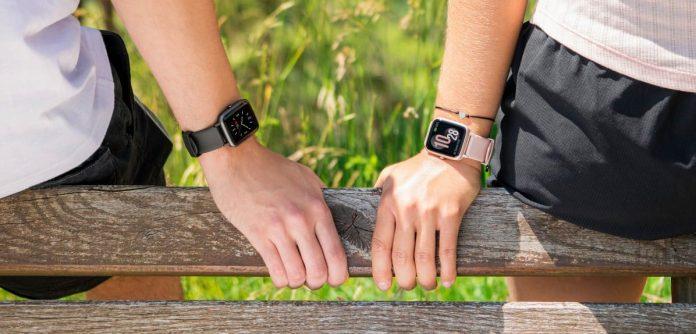 Hama Smartwatch - zwei Menschen sitzen nebeneinander