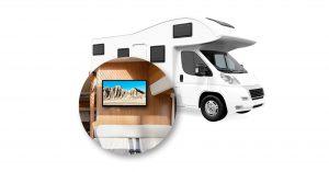 Nokia 24 Zoll TV in Camper Mobil
