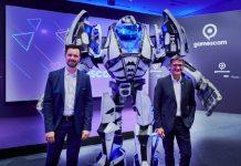 Pressekonferenz der gamescom 2021 mit Felix Falk (links, Geschäftsführer game – Verband der deutschen Games-Branche) und Oliver Frese (Geschäftsführer der Koelnmesse)