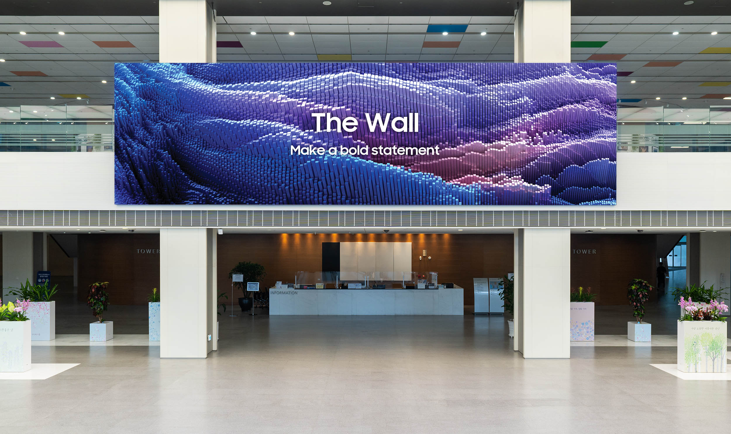 The Wall 2021 von Samsung - Micro LED Display für Unternehmenskunden