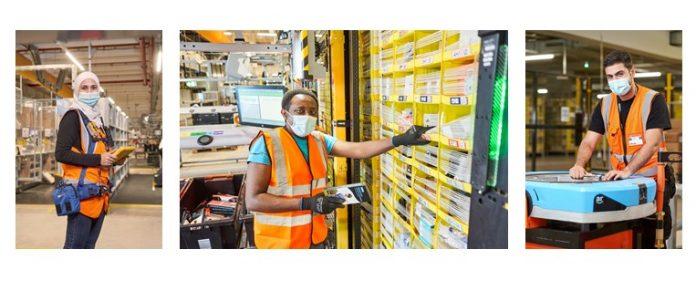 Amazon Mitarbeiter in der Logistik