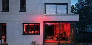 Bosch Smart Home - Außensirene - Draufsicht auf ein Haus
