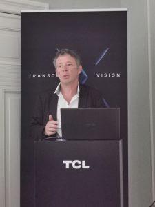 TCL Europa-Chef Frédéric Langin berichtet über die Geschäftsentwicklung