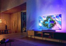 Philips OLED936 im Wohnzimmer mit Ambilight