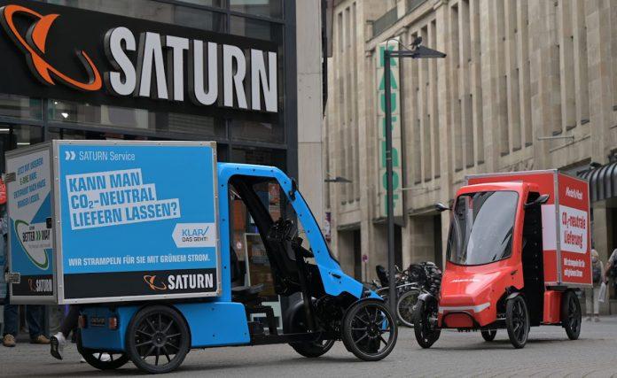 MediaMarkt Saturn testet Warenlieferung mit E-Cargobike