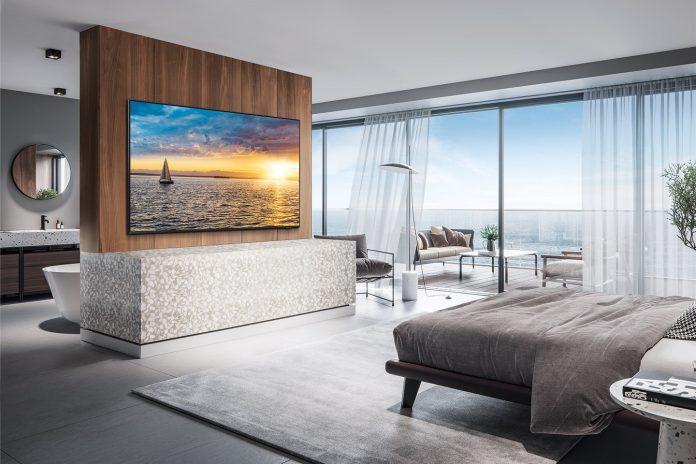 2021_Q60A Samsung TV für luxuriöse Hotelzimmer